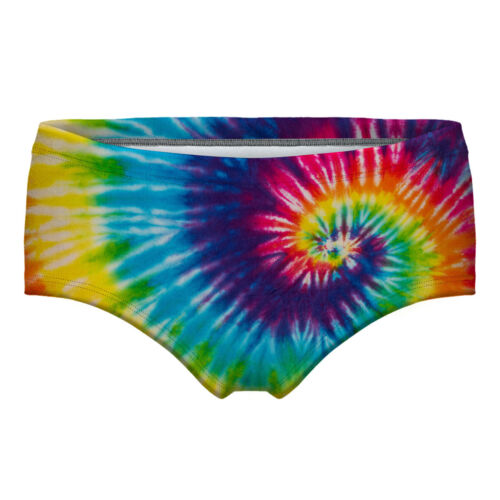 Female color-Swirl Tie-Dye printed Fitness Shorts Bottoms briefs S-2XL 1pc 55026