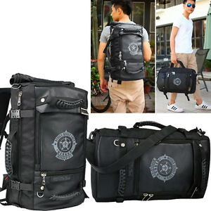 Men S Large Leather Travel Bag Backpack Rucksack Hand Luggage