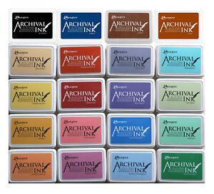 ARCHIVAL-INK-Feinkontur-Stempelkissen-WASSERFEST-permanent-Stempelfarbe-FARBWAHL