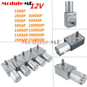 DC12V Gear Reduction Motor GW370 1RPM-250RPM Worm Reversible Torque Geared Motor