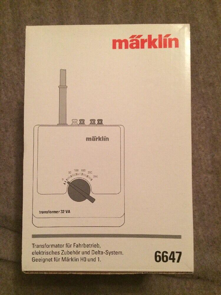 Märklin 6647 Transformator für Fahrbetrieb H0 & 1 Neu & OVP