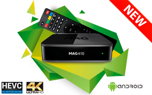 Details about 2019 Infomir MAG 410 MAG410 IPTV Set Box Android 4K HEVC  support built-in Wi-Fi