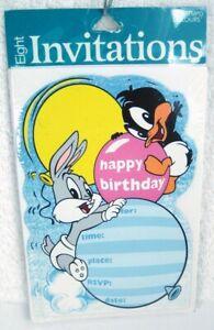 Baby Looney Tunes Happy Birthday Invitations Ebay