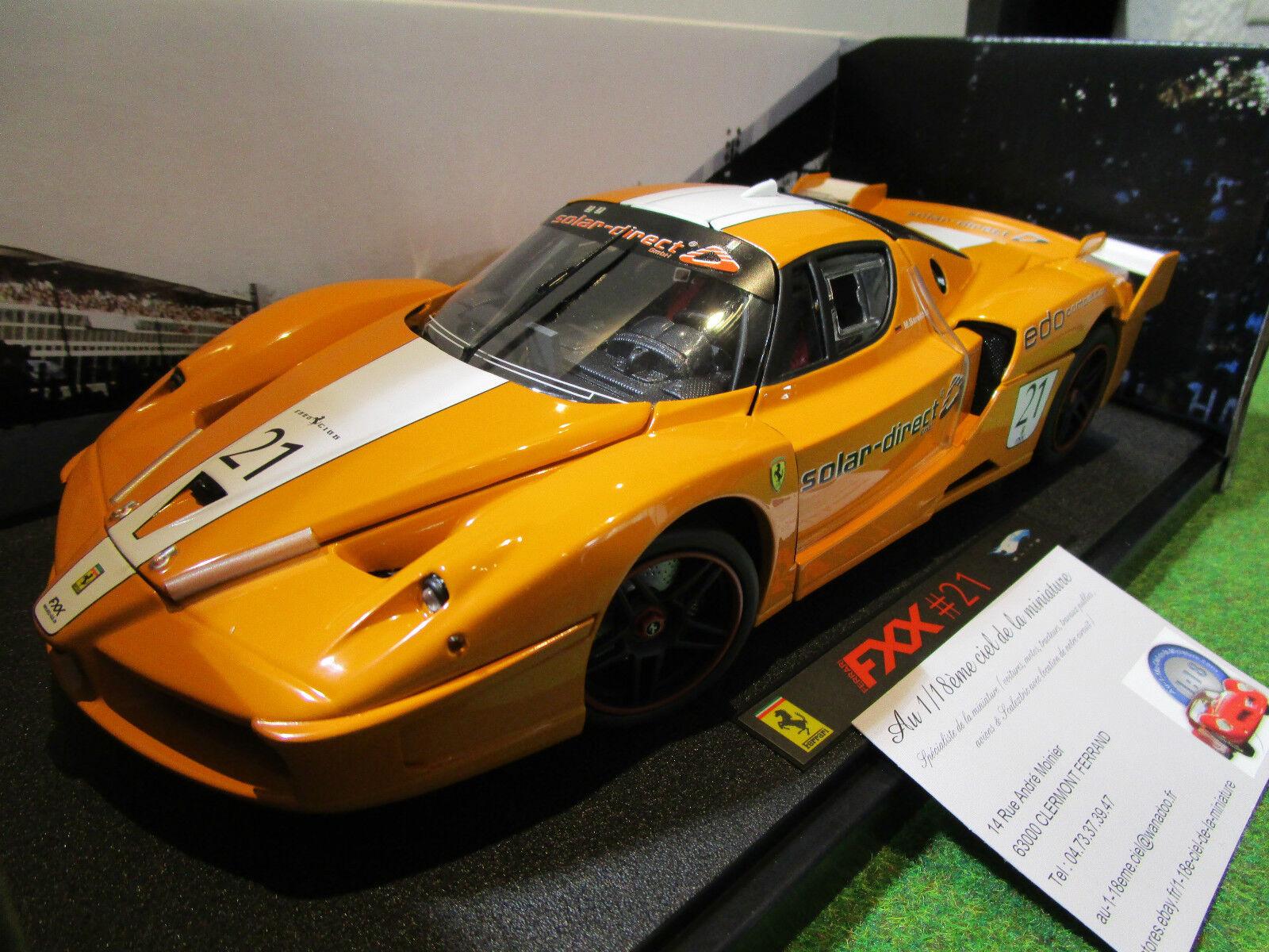 FERRARI FXX Orange   21 SOLAR au 1 18 d HOT WHEELS ELITE L7114 voiture miniature
