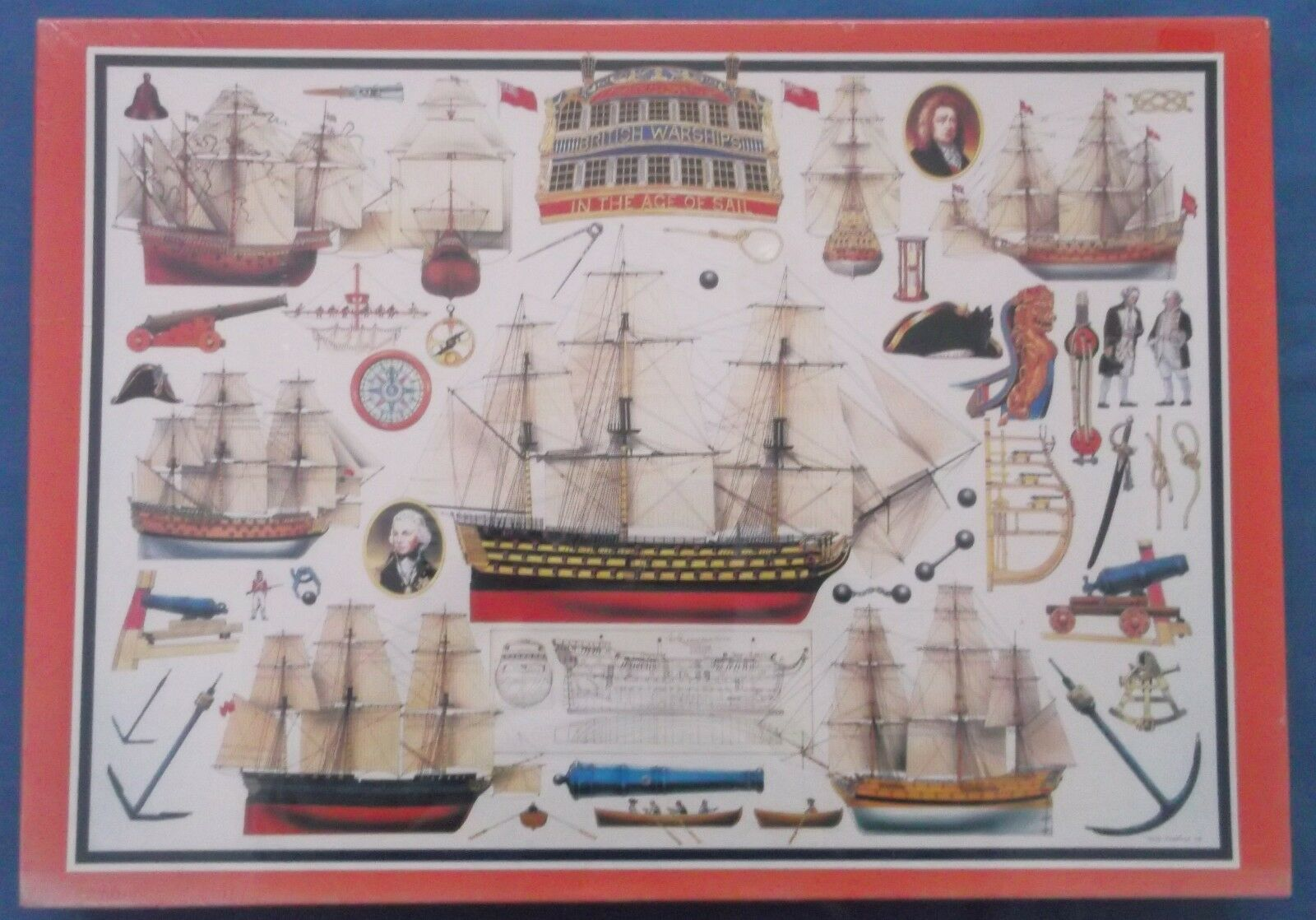 CITADEL BRITISH WARSHIPS AGE OF SAIL 1000 PIECE DELUXE PUZZLE JIGSAW PUZZLE DELUXE MINT SEALED c89be3