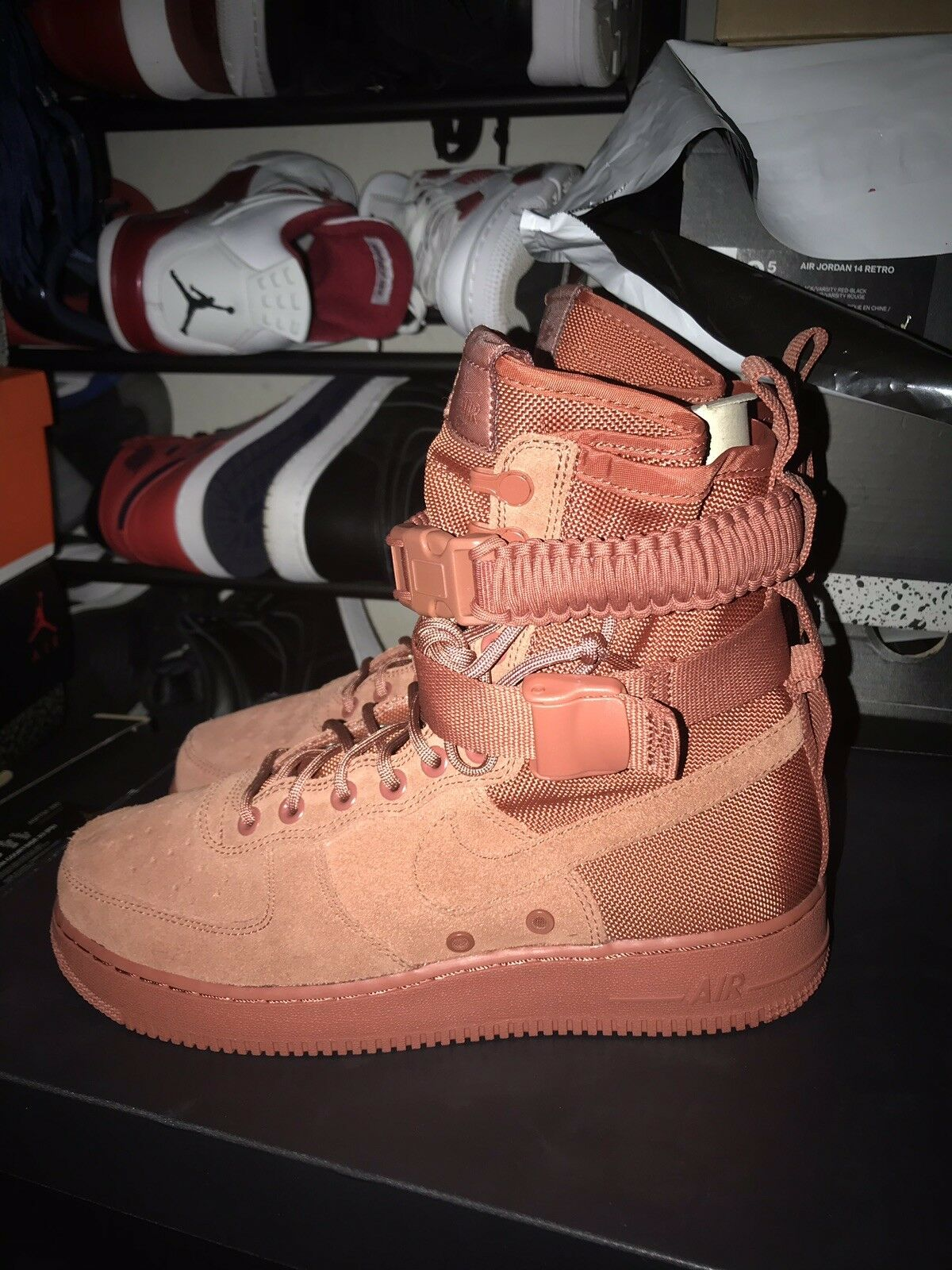"""Nike Air Force One Special Force """"SF AF1"""" Dusty Peach Brand New Size"""