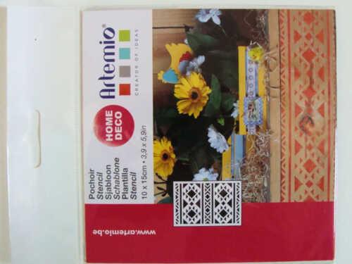 Pochoir Déco géométrique Navajo tous supports planche 15cm Artemio Home Deco