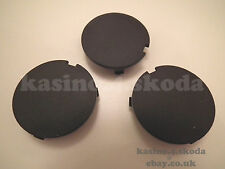 3x GENUINE OEM ENGINE COVER CAPS AUDI SKODA SEAT VW 39mm BLACK 038103937