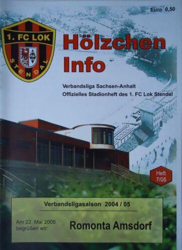 Fußball Romonta Amsdorf Memorabilia Programm 2004/05 FC Lok Stendal