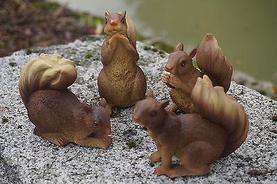 Creativo Na0664 Figurine Statuette Famille Ecureuil Animal Foret Nature Durevole In Uso