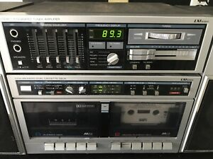 Sears-LXI-AM-FM-Stereo-Integrated-Tuner-Amplifier-Dual-Cassette-Read-Below