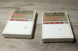 Scotch-low-noise-blank-sealed-80-minute-8-track-Cartridge-Lot-of-Two