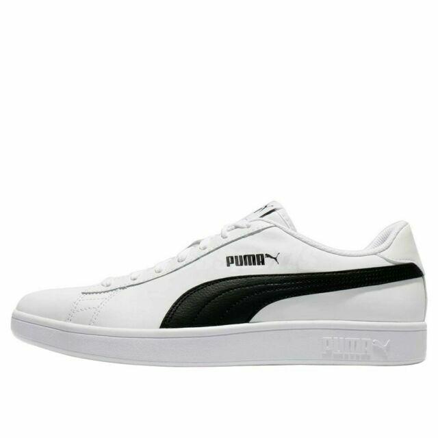 Size 12 - PUMA Smash V2 White Black for sale online | eBay
