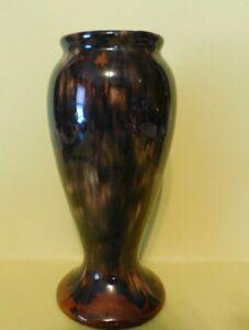 Vintage Brush McCoy Rust/Brown Onyx Vase