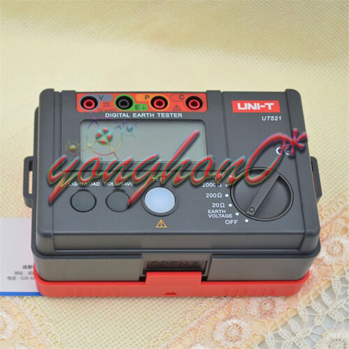 NEW UNI-T UT521 Earth Ground Testers,VOLTAGE TESTER METER  0~2000Ω