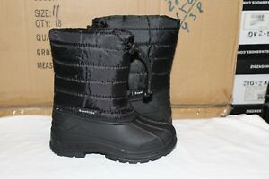 70a6ed964fd Brand New Boys Snow Boots Winter Black Puffy Size 6-10 Toddler