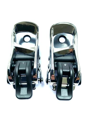 Ankle Ratchets Chrome Black K2 Snowboard Bindings Buckles x 2 Replacements