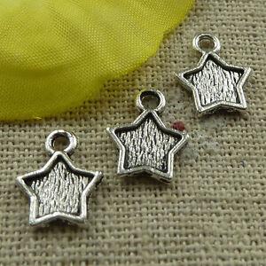 free-ship-500-pieces-tibetan-silver-star-charms-12x10mm-3908