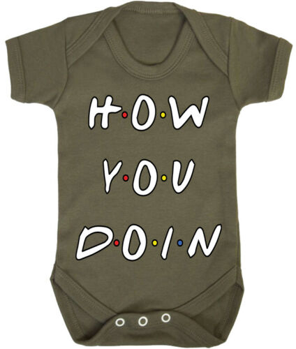 Kids Baby Grow Suit How You Doin Funny friends joey quote