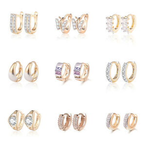 Image Is Loading Luxury Small S Baby Hoop First Earrings