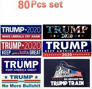 80pcs-set-Donald-Trump-Autoaufkleber-2020-halten-Amerika-stark-Zug-Aufkleber