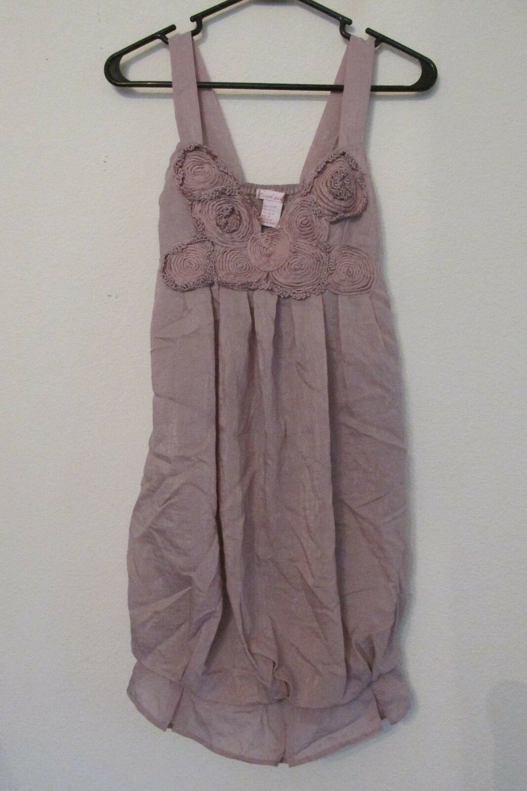 NEW WITH TAGS WOMEN'S WET SEAL METALLIC pink PINK TANK TOP DRESS SIZE SMALL