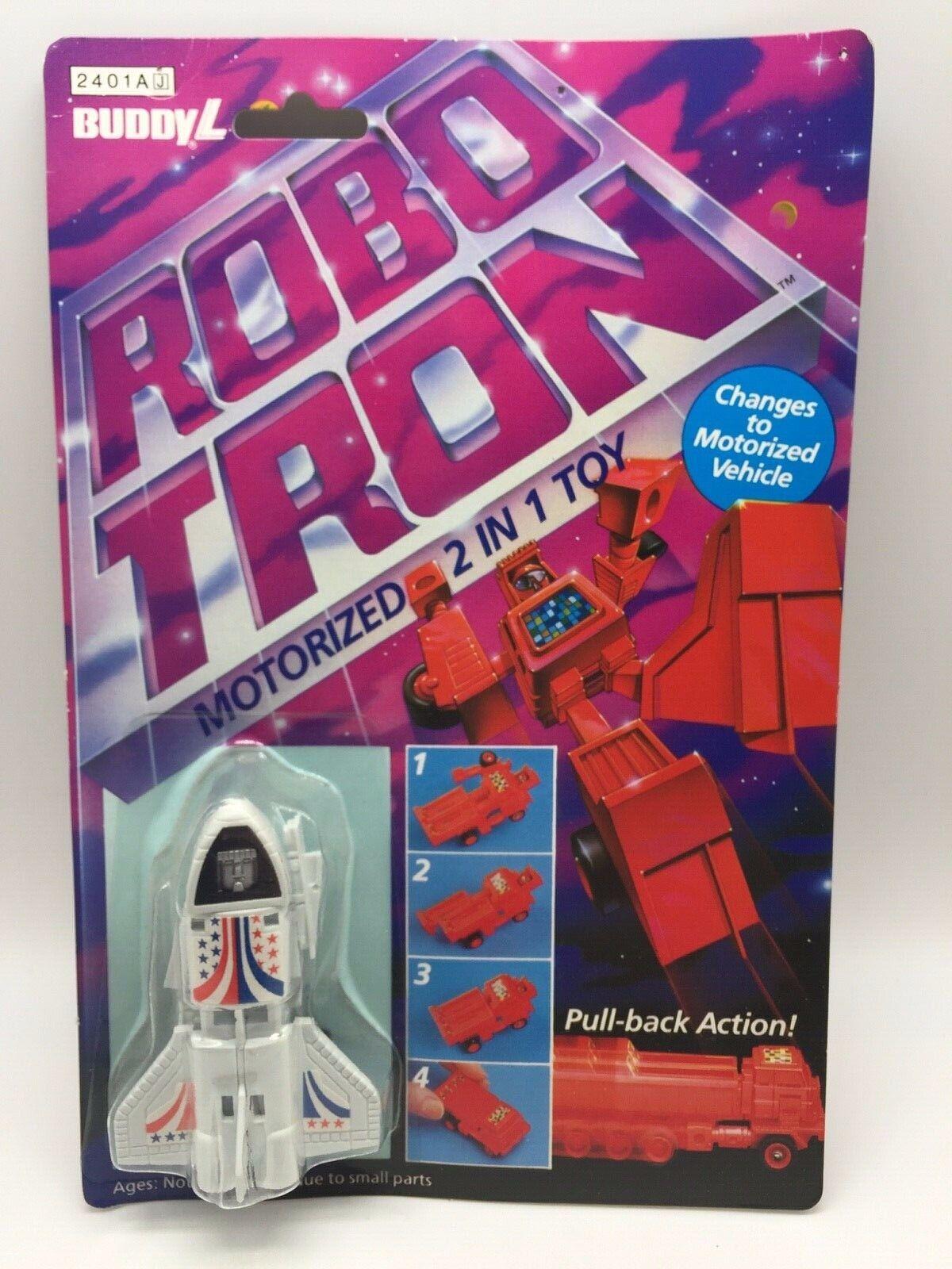 VINTAGE ROBO TRON spazio Shuttle Discovery MOTORIZZATA Transformer Robot Buddy L 84