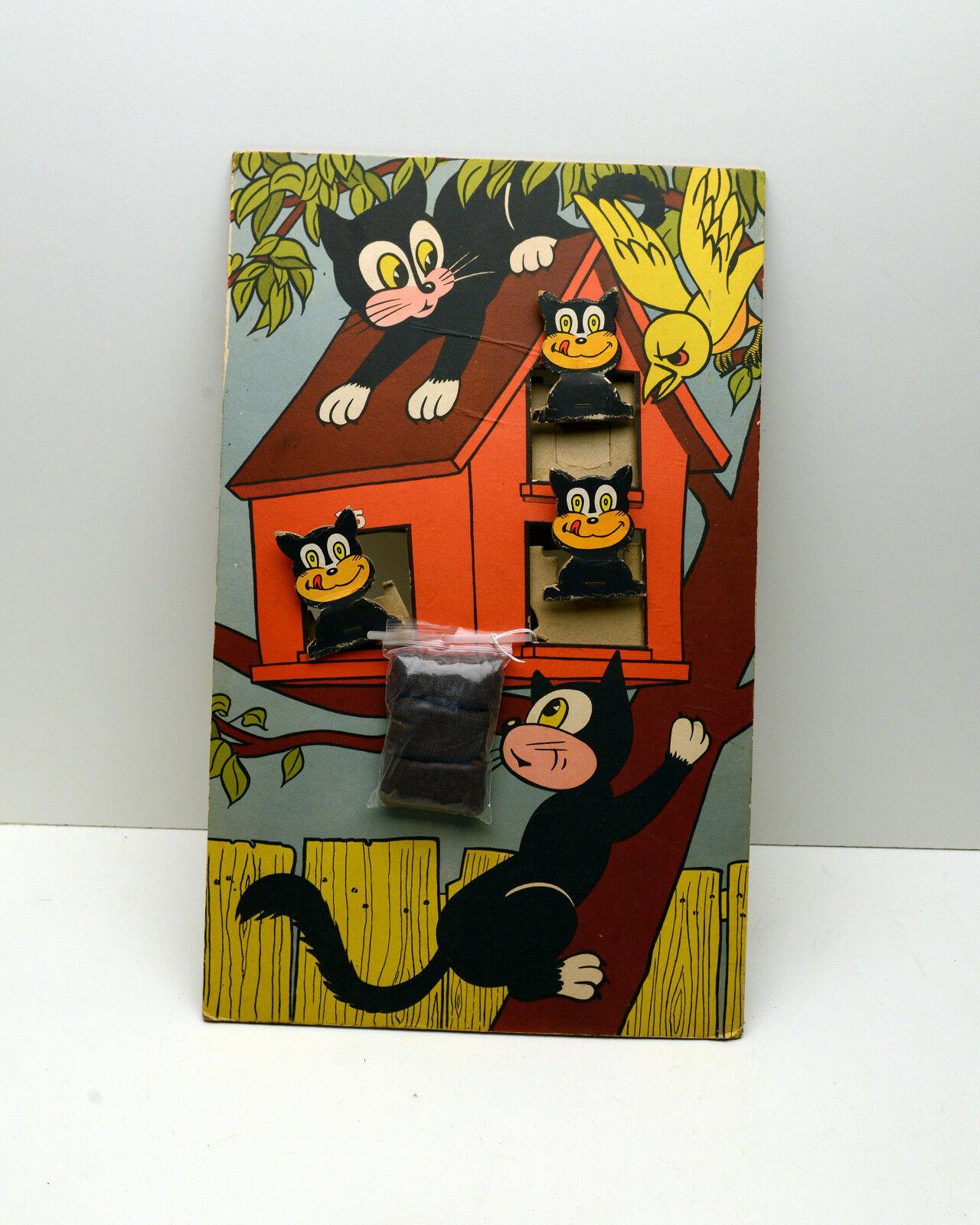 Vintage jeu Bean LE CHAT T J Cleghorn Co. SUPER RARE Bean jeu de lancement