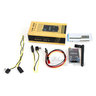 Boscam FPV 5.8G 600mW 32CH 5km Wireless AV RC832 Receiver+TS832 Transmitter Kit