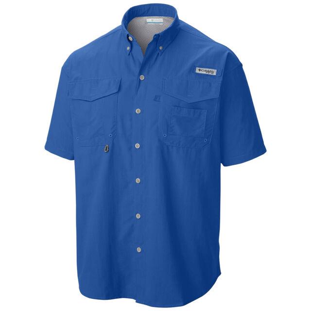 99d4414ee44 Columbia Men's Pfg Bahama II Short Sleeve Fishing Shirt Yacht 475 ...
