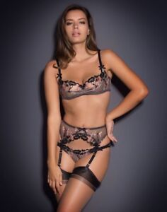 a15bb4c704 Image is loading Agent-Provocateur-Yvett-Suspender-3-NWT-Black-Spring-