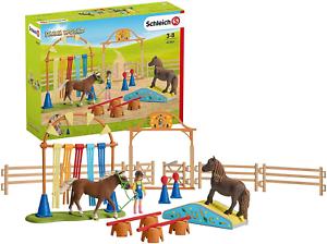 Schleich 42481 Fattoria Pony World Agilità Di Addestramento
