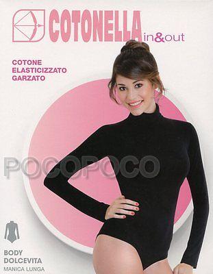 3509 Kleidung & Accessoires Body Rollkragen LangÄrmlig Baumwolle Elastisch Sweatshirt Cotonella Art