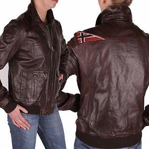 napapijri veste femme veste en cuir aguiara marron gr xl. Black Bedroom Furniture Sets. Home Design Ideas