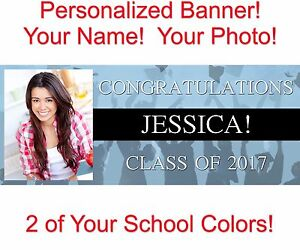 Details About Personalized Graduation Banners Ultra Strong Polyester Fiber Light