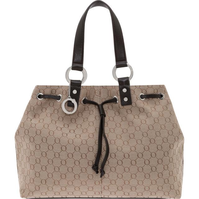 New Oroton Signature O Medium Per Tote Bag Leather Chocolate Bnwt Rrp 395
