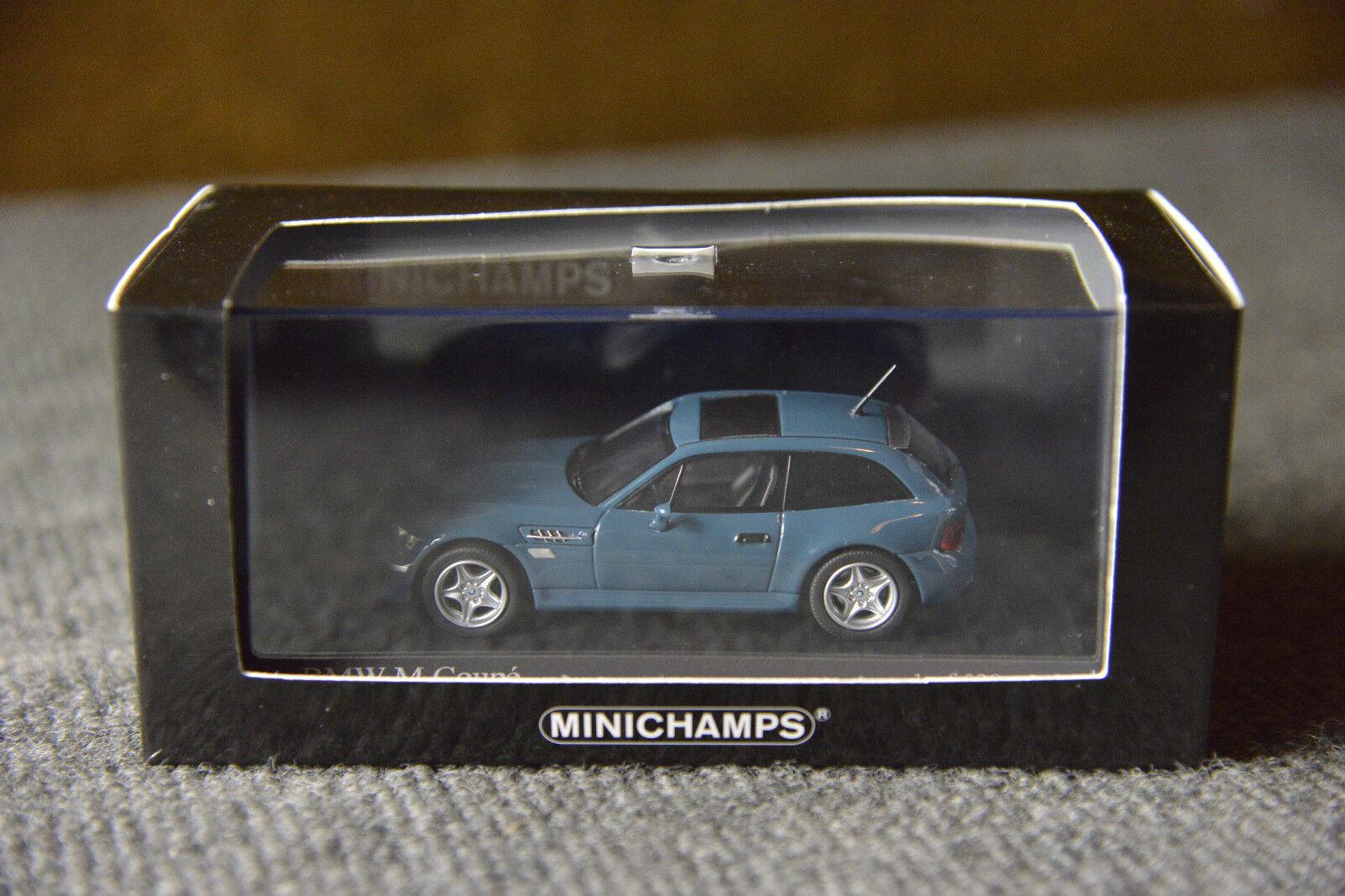 BMW Mini champs M Coupé Z3 allemand concessionnaire Modèle 1 43 Collectors Edition Bleu
