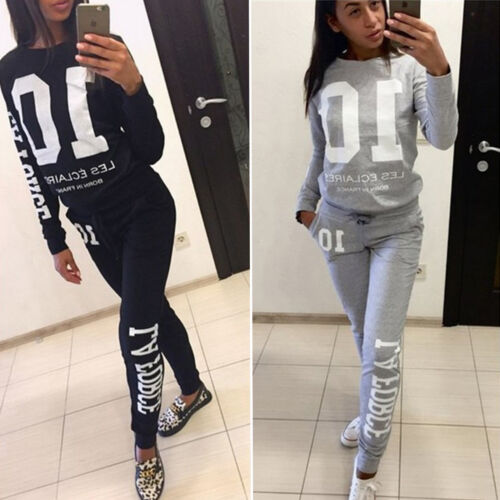 Womens Hoodie Sweatshirt Tracksuit Long Sleeve Tops Pants Lounge Wear Outfit Set