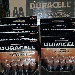 80 Duracell Coppertop AA Alkaline Batteries 2028 Exp Date Bulk Lot 8 Packs of 10