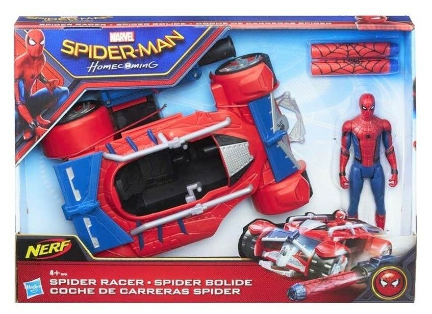 Hasbro gewarnt  spider - man  spider - racer spielset mit fahrzeug zahlen pfeile b9703 neu
