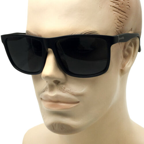 XXL Men/'s Thin Frame Sunglasses Extra Wide Frame Black Large Oversized Dark Lens