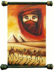Agypten-Pyramiden-Olbild-Gemaelde-Leinwand-Olbild-Bild-Bilder-Gestell-G00848