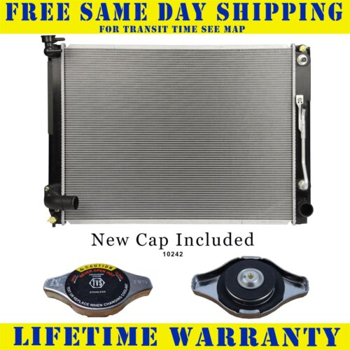 Radiator With Cap For Toyota Fits Sienna 3.5 V6 6Cyl 13076WC
