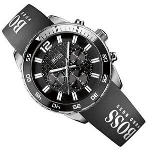 genuine hugo boss men 039 s watch 1512868 black silicone strap in image is loading genuine hugo boss men 039 s watch 1512868