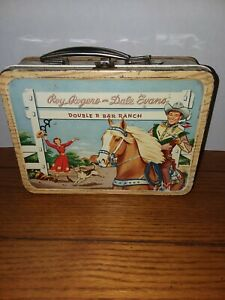 Vintage Roy Rogers and Dale Evans Double R Ranch Metal Lunch Box Nice