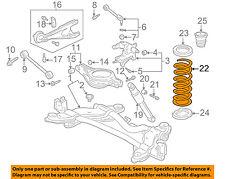 Honda Oem 99 01 Odyssey Rear Suspension Coil Spring 52441s0xa02 Ebay