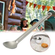 1pc Titanium Spoon Long Handle Spoon Outdoor Camping Tableware r*t