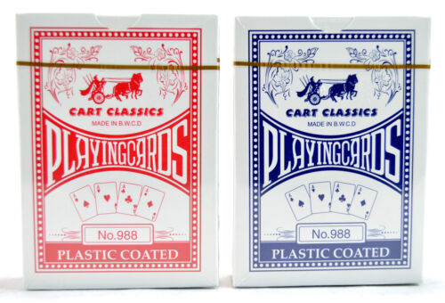 2 x Quality Pro Cart Plastic Coated Playing Cards Poker Size Sealed Deck