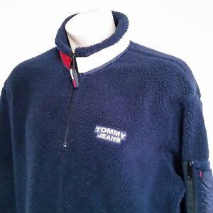 4bace108 Image is loading VTG-90s-Tommy-Hilfiger-Fleece-Pullover-Sweatshirt-Jacket-