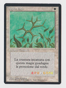 MTG-Magic-Sigillo-Verde-Green-Ward-1-Ed-Italian-Revised-FBB-1994